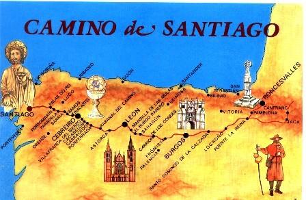 Jakobsweg Spanien Karte.2009 Camino Francés Saint Jean Pied De Port Bis Santiago De